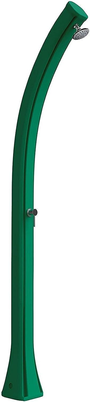 Solardusche aus Polyethylen Farbe Grün mit Kapazitt von 25Liter von Wasser Hhe 215cm geliefert von Mischbatterie Wasser warm und kalt