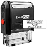 Self Inking Rubber Stamp with up to 4 Lines of Custom Text (42A1848)