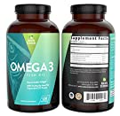 Omega 3 Essential Fatty Acid Fish Oil Supplement By Naturo Sciences - Best EPA 900mg and DHA 600mg Per Serving - Supercritical Extraction Process for Quality Purified Omega-3 Supplements 120 Soft Gels #1
