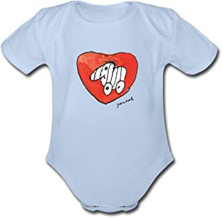 Spreadshirt Janosch Tigerente Großes Rotes Herz Baby Bio-Kurzarm-Body