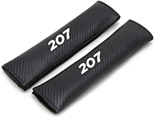 for Peugeot 207 Car Seat Belt Shoulder Strap Protect Pads Cover No Slip No Rubbing Soft Comfort 2Pcs White