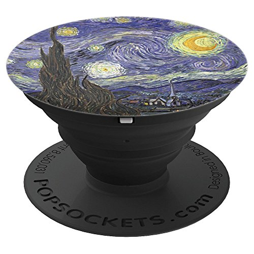 The Starry Night by Vincent Van Gogh Painting Artist Art PopSockets Grip and Stand