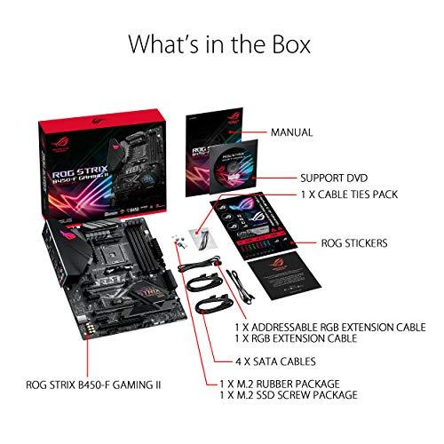 ASUS ROG Strix B450-F Gaming II AMD AM4 (Ryzen 5000, 3rd Gen Ryzen ATX Gaming Motherboard (8+4 Power Stages, HDMI 2.0b/DP,2 x PCIe 3.0 x16, USB 3.2 Gen 2 Type-C, BIOS Flashback, 256Mb BIOS Flash ROM