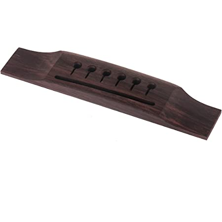 Musiclily Rosewood Acoustic Guitar Bridge for 6 String Martin Style