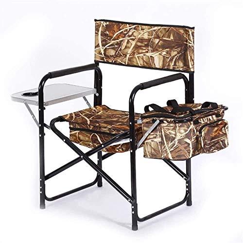 silla de camping, Camping portátil y silla deportiva Sillas de patio Portables livianos plegables con la mesa lateral y el soporte de la taza de la taza Resistencia al desgarrez para el acampar al air