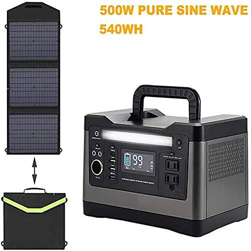 LLC Planta de energía Solar 500W Solar Generador portátil de Almacenamiento de energía de la energía Acampar al Aire Libre móvil de la energía Energía Caja de Almacenamiento de Emergencia