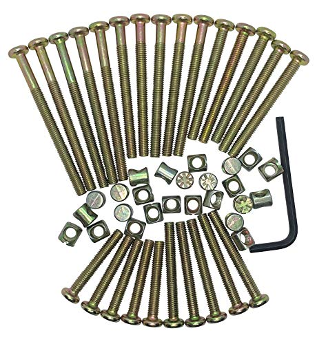 Baby Bed Replacement Bolts for Graco Baby Bed. Bolts and Nuts Kit, M6 Hex Socket Head Cap Screws Made of high Strength Plated Steel, Includes hex Key