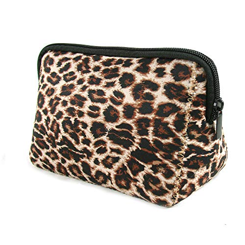 Makeup Bag Leopard Cosmetic Bag Pouch Waterproof Soft Neoprene Travel bag Zippered Storage Pouch Printing Toiletry bag Pencil Case Organizer