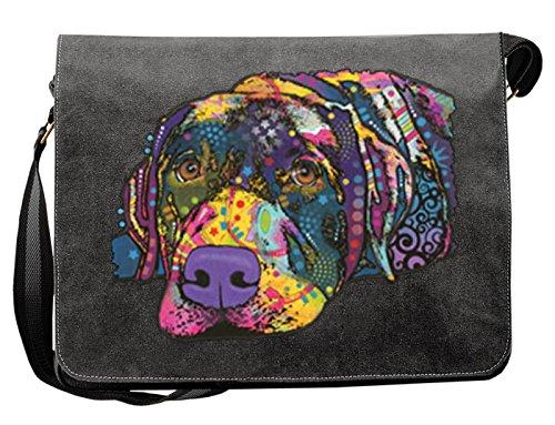 Hunde Motiv Umhängetasche für Hundehalter mit Hunde Tasche Canvas Savvy Labrador Hund Hundebesitzer Hundehalter Dog Hunde Artikel Dogs Hundefreund