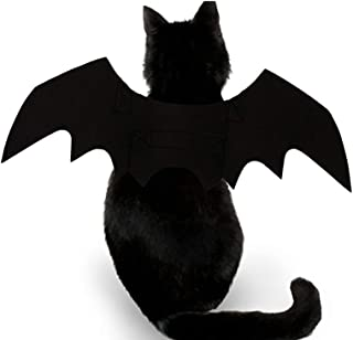 Cute Halloween Dog Puppy Cats Pet Black Funny Cool Bat Wing Make Up Costumes Clothes Decor - Black
