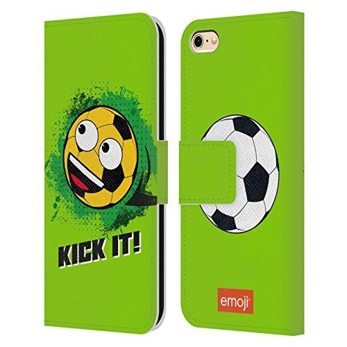 Head Case Designs Oficial Emoji Patéalo Fútbol Carcasa de Cuero Tipo Libro Compatible con Apple iPhone 6 / iPhone 6s