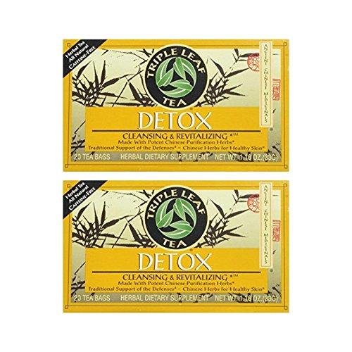 Triple Leaf Detox Tea - 20 bags (Pack of 2)