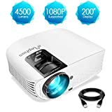 ELEPHAS PRO610 Projector, [2018 Version] with 200' 720P LCD Video Projector Support HDMI VGA AV...
