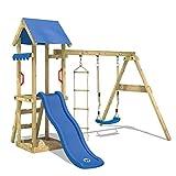 WICKEY Spielturm TinyCabin Kletterturm Spielplatz mit Schaukel und Rutsche, Sandkasten und...