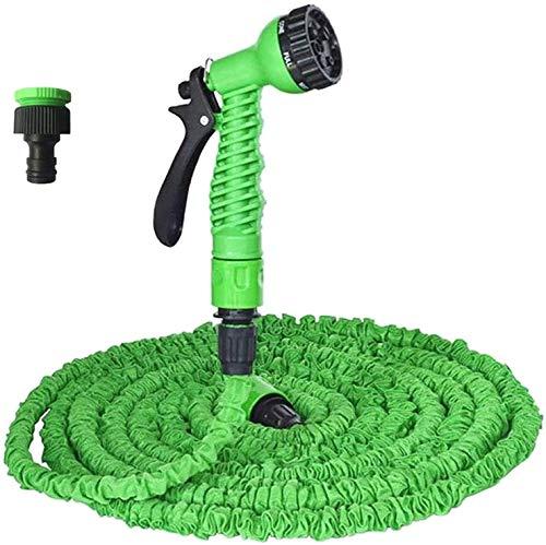 azorex Manguera de Jardín Extensible Flexible 2 Medidas 7 Funciones de Riego con Presión del Agua (5-15m)
