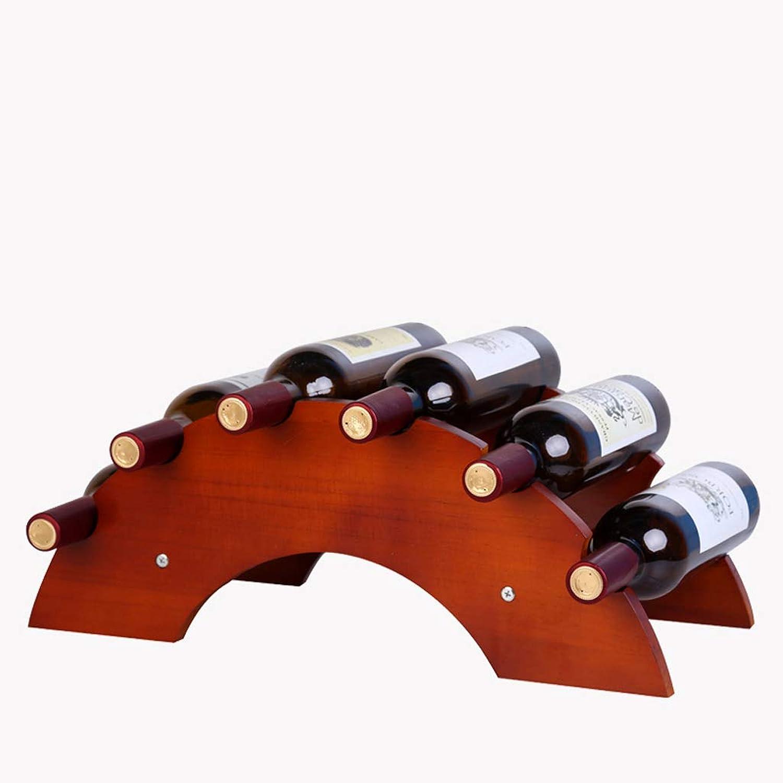 Entrega rápida y envío gratis en todos los pedidos. Estante de exhibición de 6 6 6 Botellas de mostrador de Vino en Rack Estante de exhibición Bamboo-51x24x20cm (Color   Vino Tinto)  edición limitada en caliente