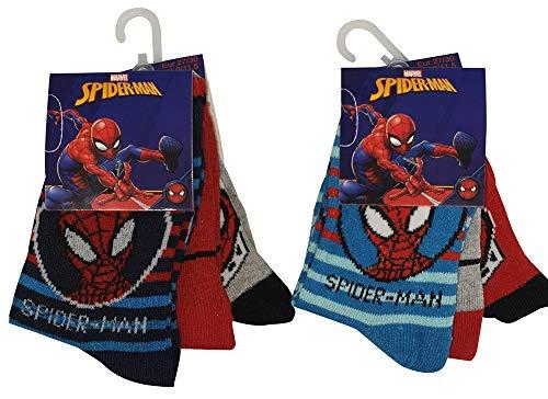 Marvel Spider-Man kousen voor kinderen, kleurrijke sokken in een pakket van 6 voor jongens