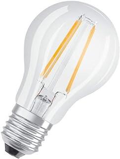 Osram 6.5W LED Retrofit CLASSIC A Clear Dimmable Bulb, Warm White, O-FL-CL-D-LED-6.5WWS