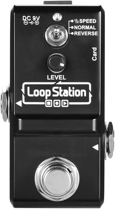 ZZABC JTPJTB Estación de Bucle Mini Guitar Looper Effect Pedal 10 Minutos Tiempo de grabación 3 Modos de Trabajo Verdadero Bypass Full Metal Shell (Color : C)