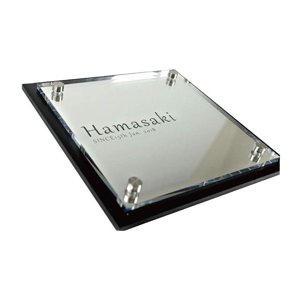 炎上スイス人独立して表札「シンプルプレート」5つのデザインから選べます 鏡面アクリルの美しい輝き