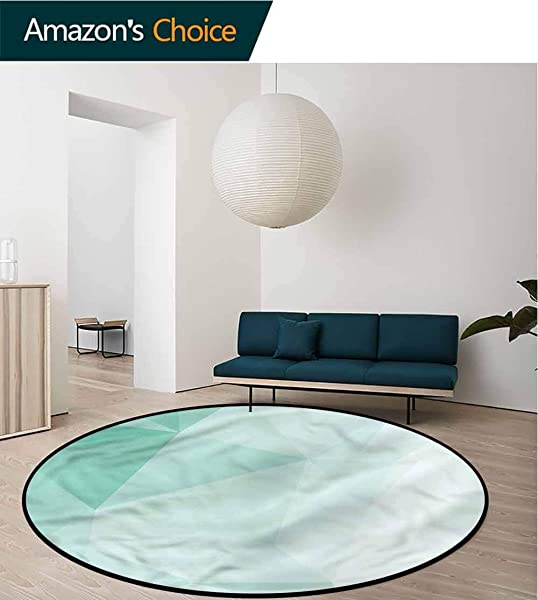 RUGSMAT Mint Modern Vintage Rugs Polygonal Geometrical Perfect For Any Room Floor Carpet Round 31