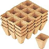 Connex Anzuchttöpfe 4 x 4 cm - Praktisches Set mit 48 Stück - 100% torffrei aus...
