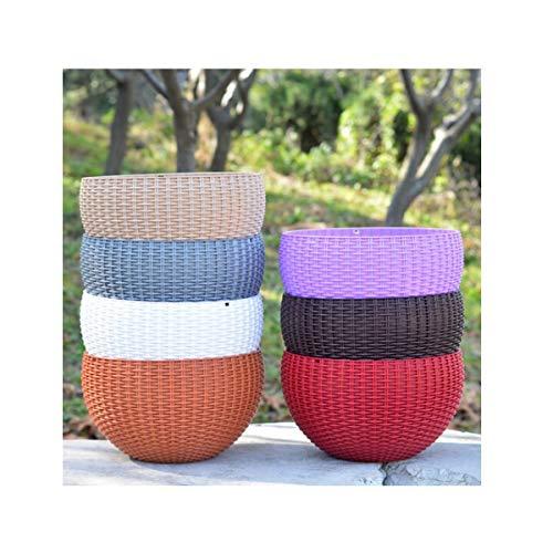 E/A ZQYBH Cestini di bambù, plastica Rotonda della Resina Hanging vasi da Fiori, Verde Creativo Lotus vasi da Fiori, (Color : Coffee, Size : M)