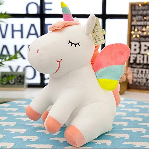 N / A Neue kleine weiche niedliche Regenbogenart EIN gehörntes Tier Spielzeug Plüschtier Tier Pony Kinderspielzeug Puppe Geburtstag 25CM