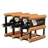JIAHE115 Weinregal Wine Rack stapelbare 6-Flasche Tabletop Weinregal Aufsatz- oder Schrank Weinflaschenhalter Tisch-Weinlagerung und Stand (Color : Brown, Size : 22.7x23.5x32.2cm)