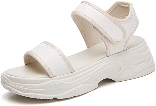 Sandales Sandales Fond épais augHommesté Sandales de Sport décontractés Velcro sauvages-beige-37  commander maintenant les prix les plus bas