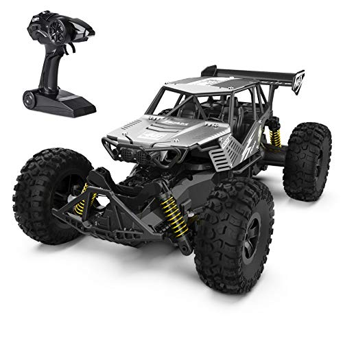 Ferngesteuertes Auto 1:14 2.4GHz RC Auto Offroad Monstertruck, ferngesteuerte Autos 20km/h, RC Car ab 6 Jahren, Auto Spielzeug Geschenk für Kinder 8 Jahren und Erwachsene, Silver
