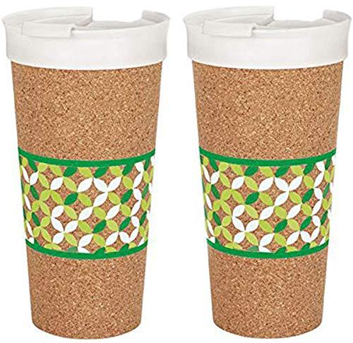 Ernesto 2X Becher to Go Isolierbecher Trinkbecher Kork Thermobecher Kaffeebecher Cup 0,5 Liter