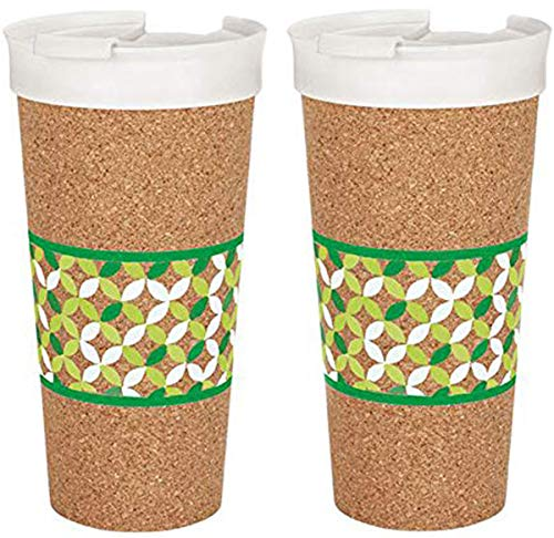 Ernesto 2X Becher to Go Isolierbecher Trinkbecher Kork Thermobecher Kaffeebecher Cup 0,5 Liter