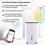 Honeywell Basement & Small Room Up to 1000 Sq. Ft, TP30AWKN Smart Wi-Fi Energy Star Dehumidifier, 30 Pint, White 15 POWERFUL DEHUMIDIFIER FOR ROOMS UP TO 4000 SQUARE FEET: This powerful beast effectively removes up to 70 pints of moisture from the air (50-Pint 2019 DOE Standard) to protect walls, curtains, furniture and appliances from excess household moisture. Ideal for large basements, living rooms, cellars, and storage rooms. PEACE OF MIND WITH A BRAND YOU TRUST: Honeywell Dehumidifiers are top rated by an independent, US-based product safety-testing agency since 2016 and all Honeywell Dehumidifiers are backed by an outstanding warranty. Plus, if you ever need help, the Honeywell Home Comfort customer service hotline connects you directly to an in-house customer support team who are ready to help (during office hours). SMART & VERSATILE: Wi-Fi-Enabled and compatible with Amazon Alexa voice commands, the Honeywell Smart Dehumidifier can be controlled from almost anywhere. Change humidity and fan-speed settings without moving away from your busy routine.