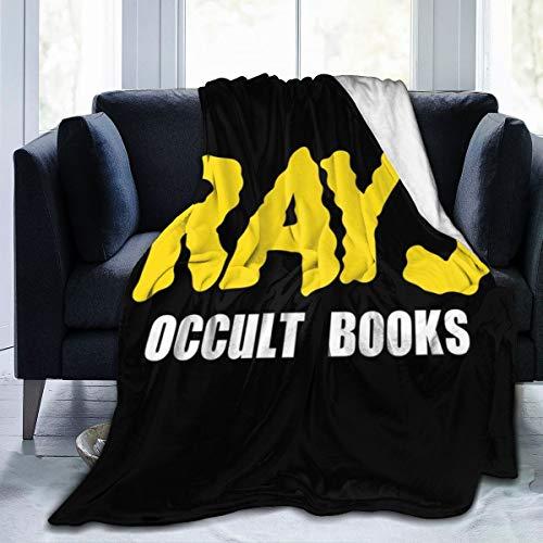 NUJSHF Strahlen Okkult Bücher Ghostbuster, Trucker Cap Fleece Flanell Überwurf Decke leicht ultraweich warm Bett Decke für Sofa geeignet