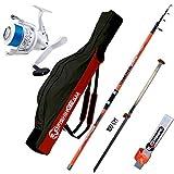 agc Kit SURFCASTING Composto da Canna Catcher 390 CM 200 GR + Mulinello SHIZUKA SK7 7000 + Fodero...