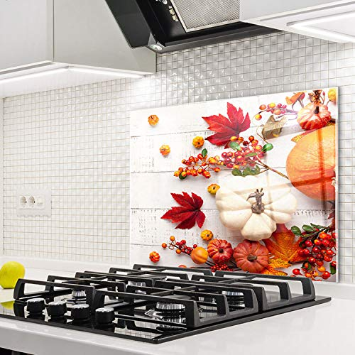 Horno para la cocina protector contra salpicaduras resistente al calor decoración guardia trasera proteger proteccion mural panel rasguño resistir Talla: 60x52cm-No:232
