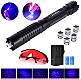 6. Loyalfire Blue Beam Light Pointer, High Power Burning Tactical Teaching Pen Flashlight with 5 Patterns for Hunting Hiking Outdoor