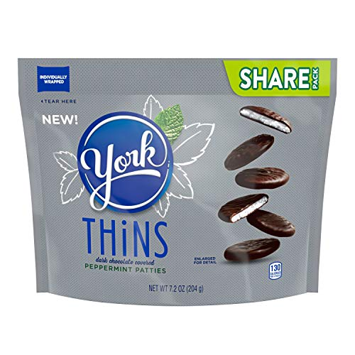York Thins Peppermint Patties Candy, 7.2 Oz (Pack of 8)