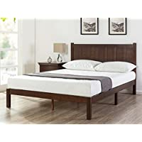 Zinus Adrian Wood Rustic Style Platform Bed with Headboard (Full)