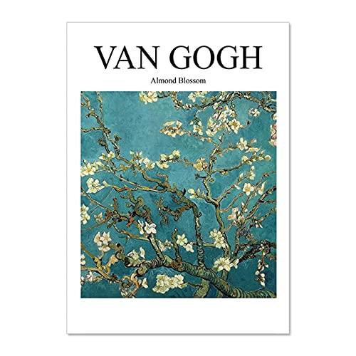 Cartel de impresión de exposición abstracta, Henri Matisse Van Gogh Picasso Yayoi cuadro de lienzo de arte de pared, pintura de lienzo sin marco A5 30x45cm