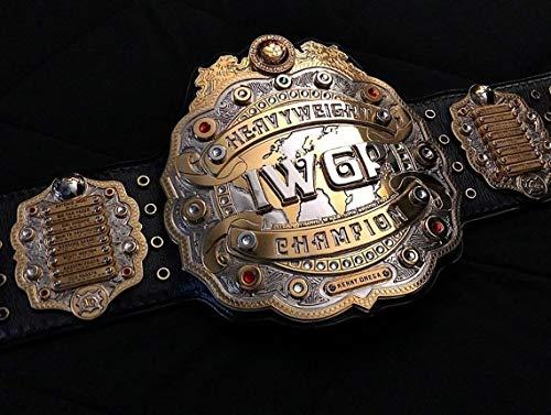 "Cuircon IWGP Heavyweight Wrestling Championship Replica Belt Handmade (4MM Zinc Plates, 52"")"