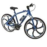 P Prettyia 1:10 Juguete de Bicicleta de Carrera/Montaña/Ciudad Realista en Miniatura Obra de Arte Artesanal Adorno para Hogar - Azul
