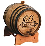 Personalized Whiskey Barrel - Engraved Wine Barrel - Custom Oak Mini Cask - Fancy Design (3 Liter Barrel)