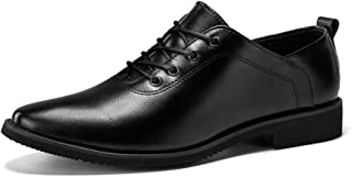shangruiqi Men's Business Oxford Casual New Style British Style Low Upper Lacing Formal Shoes Abrasion Resistant (Color : Black, Size : 6 UK)