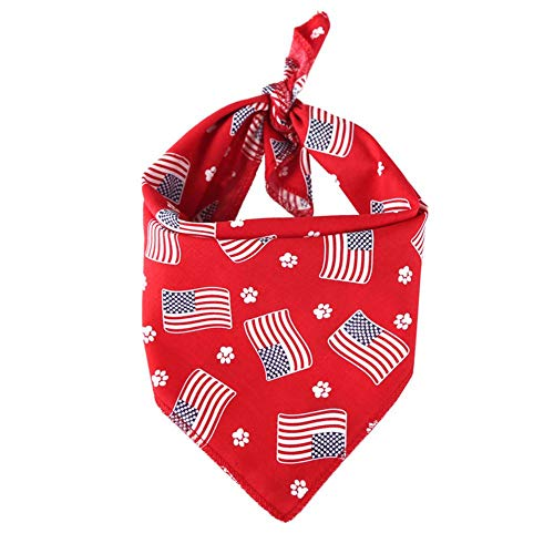 Ritapreaty Sjaal Saliva Handdoek, Amerikaanse vlag Vierkante Sjaal Bandana Hond Driehoek Sjaal Lover Gift