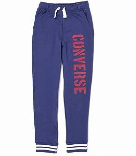 Converse Chándal para niños, color azul marino, moderno, ajuste delgado, cintura elástica, tobillos, 10-15 años
