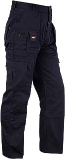 Men's Lee Cooper LCPNT206 Workwear Multi Pocket Cargo Kneepad Work Trousers Navy