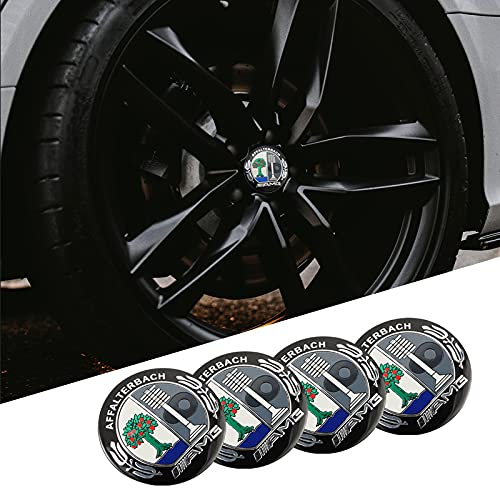 Tapas De Cubo De Centro De Rueda tapas de cubo ce 1set Coche Pegatinas de la rueda de automóviles 56 mm Auto Center Hub Cap Decal Compatible con Mercedes Benz AMG W203 W204 W205 W210 W211 W212 W213 W2