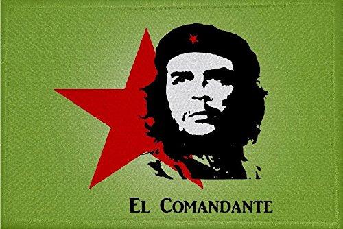 U24 Aufnäher Che Guevara grün Motiv Nr. 2 Fahne Flagge Aufbügler Patch 9 x 6 cm